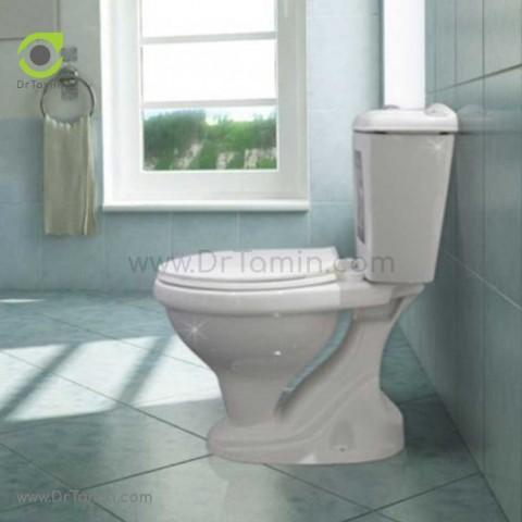 توالت فرنگی چینی گلسار فارس مدل نیلوفر با مخزن درجه 1