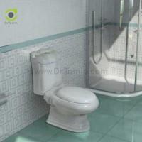 توالت فرنگی چینی گلسار فارس مدل کوئین با مخزن درجه 1