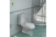 توالت فرنگی چینی گلسار فارس مدل کوئین با مخزن