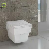 توالت فرنگی چینی گلسار فارس مدل وال هنگ آستر درجه 1